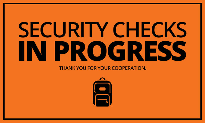 Security Checks at our Services